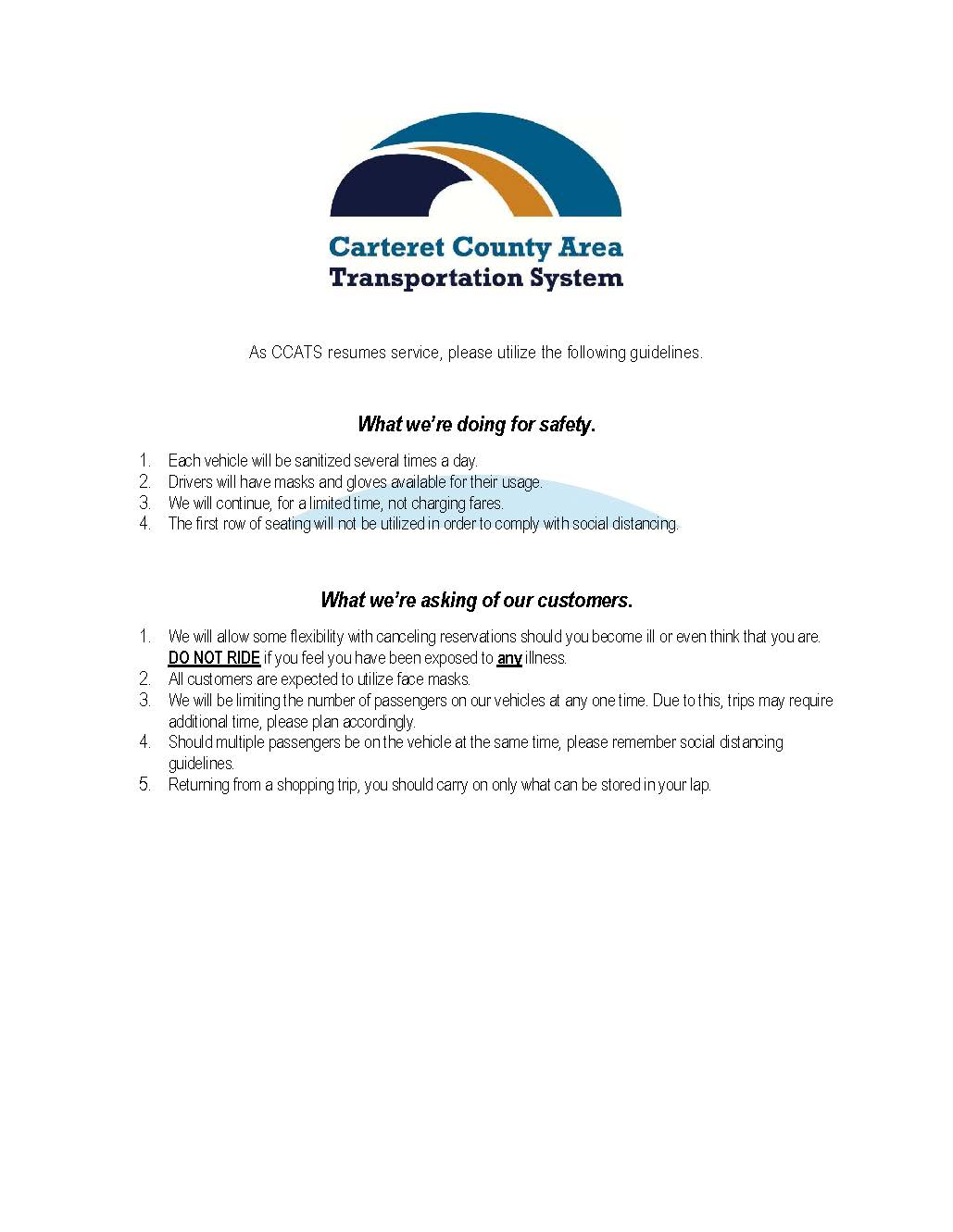 CCATS rider safety