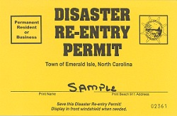 Disaster Re Entry Permit
